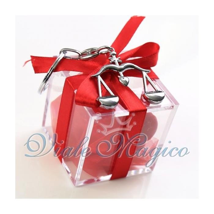 abbastanza Bomboniere Laurea Giurisprudenza Plexiglass Rosso con Bilancia  AY61
