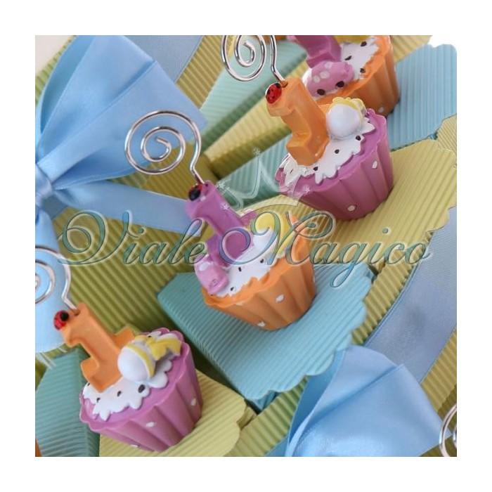 Favorito Bomboniere Primo Compleanno Torta Portaconfetti con Cupcake  AY43