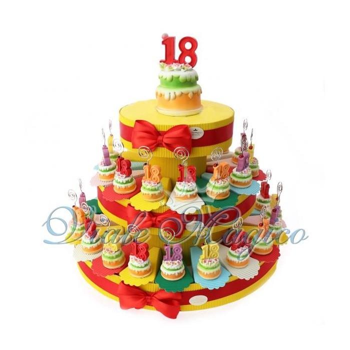 Conosciuto Bomboniere Compleanno Maturità Torta Portaconfetti Memoclip 18  QZ61