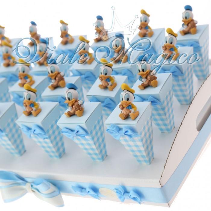 spesso Bomboniere Nascita Primo Compleanno Coni a Quadretti Paperino  TE64