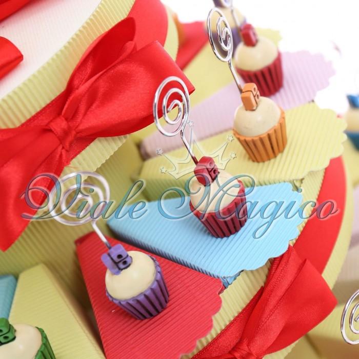 Top Bomboniere Torta Confetti con Memoclip Cupcake Compleanno 18 Anni  ZS35