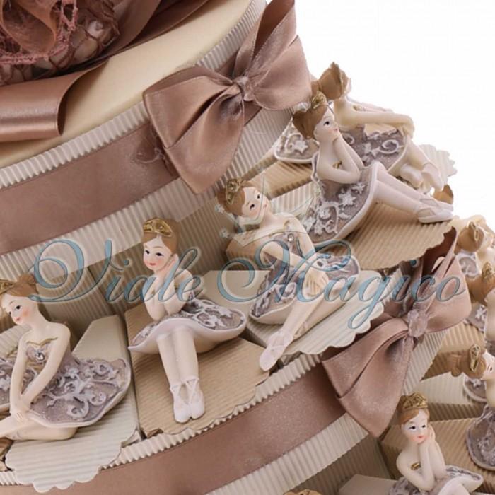 Amato Bomboniere Prima Comunione Bimba Torta con Statuina Ballerina  SB44