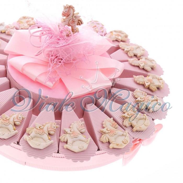 Bomboniere nascita battesimo torta confetti con magnete for Tavolo unicorno