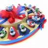 Torta Bomboniere Compleanno Comunione Battesimo con Statuina Motoclicletta Color