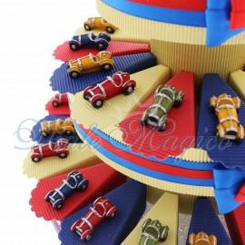 Torta Confetti con Statuina Auto d'epoca Color