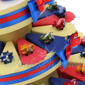 Torte Bomboniere Compleanno Offerte Prima Comunione Torta Confetti con Statuina Aeroplano Color