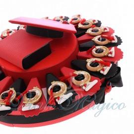 Torta Bomboniere Magnete Mappamondo con Nappina