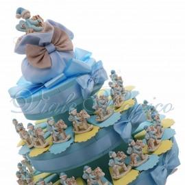 Torta Confetti Cavallo a Dondolo Bimbo