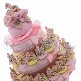 Torta Confetti Cavallo a Dondolo Bimba