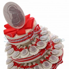 Torta Bomboniere Magnete Maternità Legno