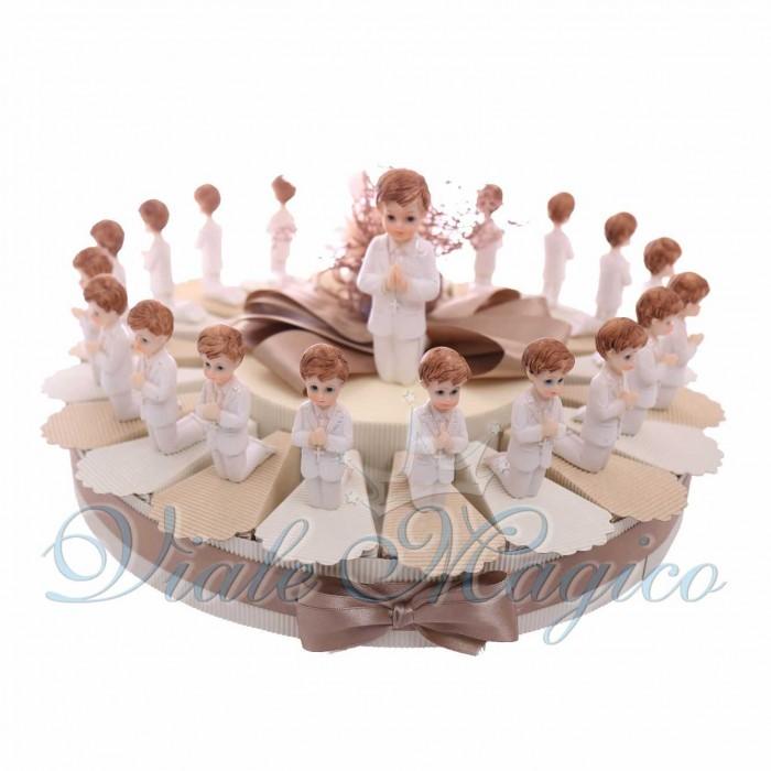 Torta Bomboniere Prima Comunione Statuina Bimbo in Preghiera