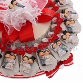 Torta Bomboniere Matrimonio Promessa Anniversario Sposini Divertenti