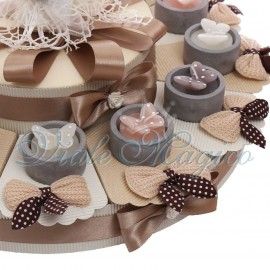 Maxi Torta con Candele Farfalla Pois