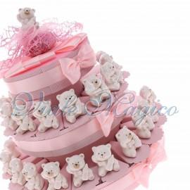 Torta Confetti con Statuina Orsetto Bimba con Biberon New