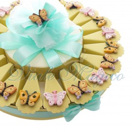 Torta Bomboniere Magnete Farfalle Mix Color New