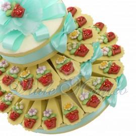 Torta Bomboniere Matrimonio Compleanno Magnete Piantina New