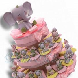 Torta Bomboniere con Statuine Safari Bimba