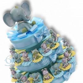Torta Bomboniere con Statuine Safari Bimbo
