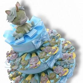 Torta Bomboniere con Magnete Safari Bimbo