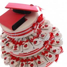 Torta Bomboniere Magnete Mix con Coccinella Portafortuna