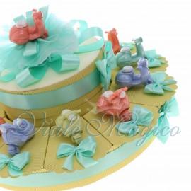 Maxi Torta con Statuina Vespa Pastello