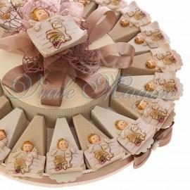 Torta Bomboniere Placchetta Angioletto con Calice Comunione