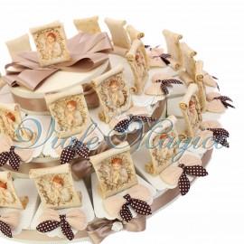 Maxi Torta con Pergamena Prima Comunione Bimbo