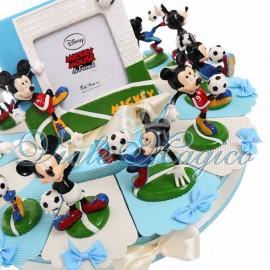 Torta con Statuina Maxi Topolino Calciatore Disney