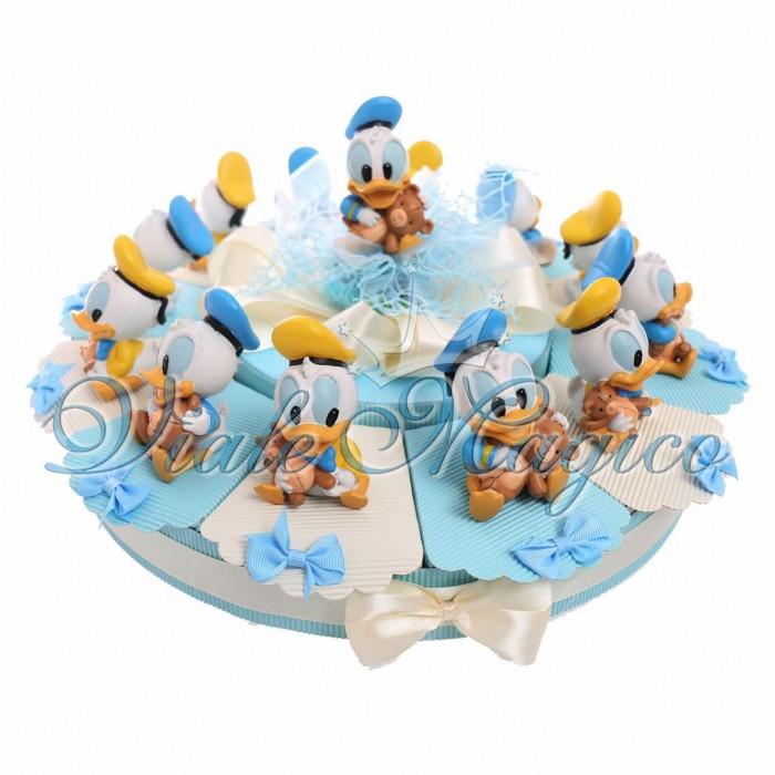 Torta Bomboniere Disney Paperino con Statuina Maxi Baby Orsetto