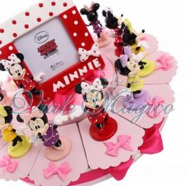 Torta con Statuina Maxi Minnie Pois Disney