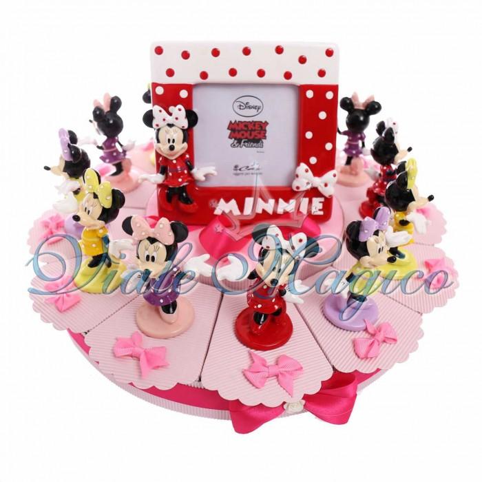 Eccezionale Torte Bomboniere Minnie Nascita Compleanno Bimba Statuine Disney DH86