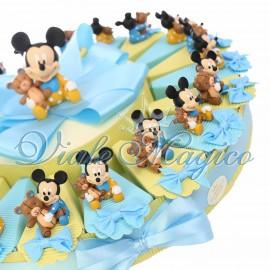 Torta Bomboniera Disney Statuina Topolino Nascita Battesimo Primo Compleanno Baby Orsetto