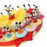 Torta Bomboniere Mickey Mouse Compleanno Disney Statuina Topolino Mix Color