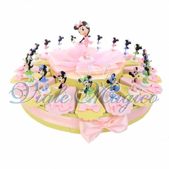 Torta Bomboniere Primo Compleanno Bimba Disney Statuina Minnie Ballerina