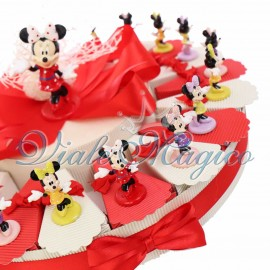 Torta Disney Statuina Minnie Mix Color