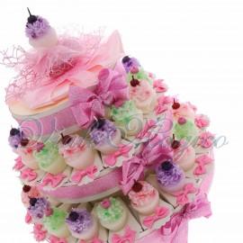 Torta Bomboniere Candela Cupcake Ciliegina