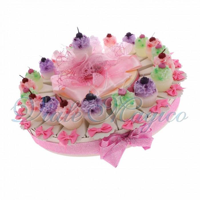 Torta Bomboniere Compleanno Ragazza Offerte Candela Cupcake Ciliegina