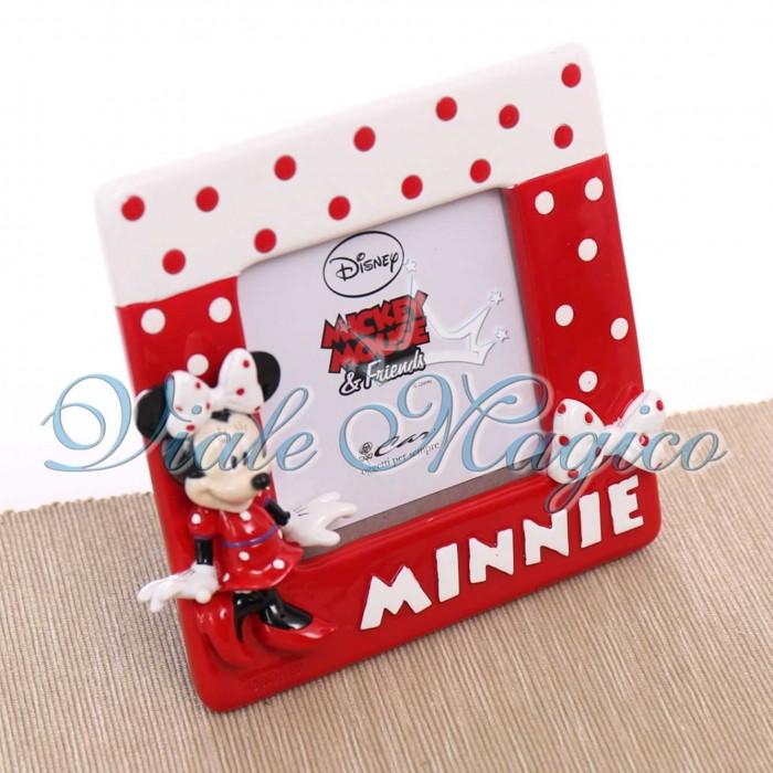 Bomboniere Disney Compleanno Bimba Portafoto Minnie Pois Rosso Compleanno