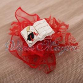Sacchetto in Pizzo con Magnete Libro Laurea