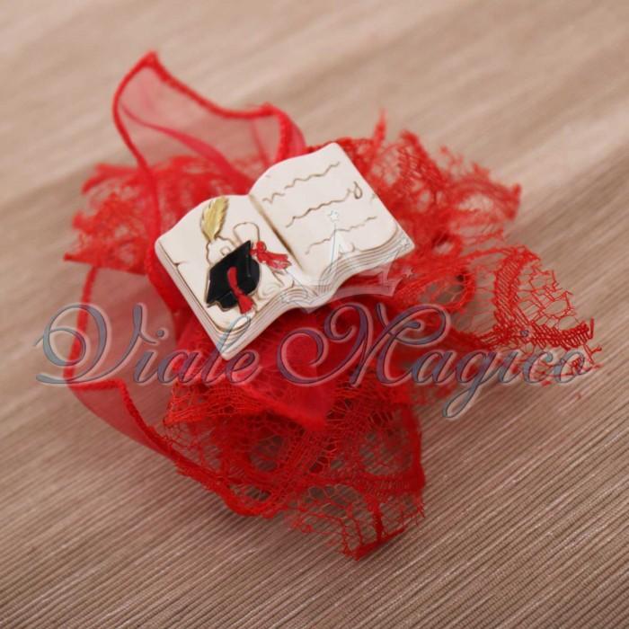 Bomboniere Online con Magnete Libro Laurea Sacchetti con Confetti