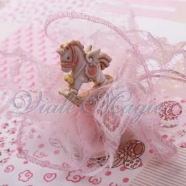 Sacchetto in Pizzo con Statuina Unicorno Star Bimba
