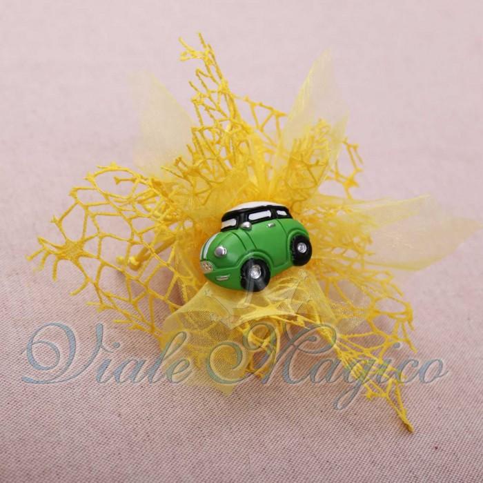 Bomboniere Compleanno Diciottesimo Ragazzo Sacchetto con Magnete Mini Cooper Color
