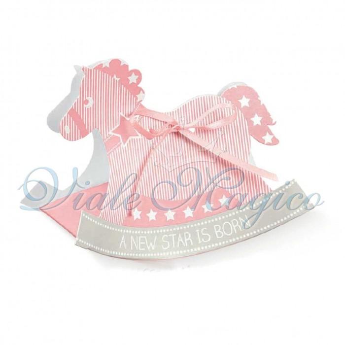 Scatoline Nascita Bimba per il Fai da Te 20 PZ Cavallo a Dondolo Star