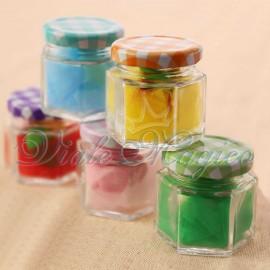 Vasetti Confettata Quadrettati Mix Color per Compleanno