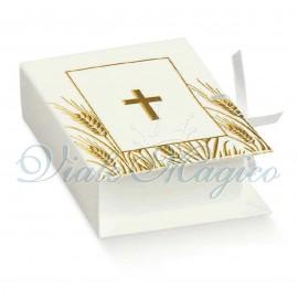 Bomboniere Comunione Bimbo Bimba Fai da Te 20 PZ Scatoline Libro Prima Comunione Croce Sacra