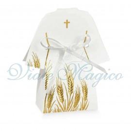 20 PZ Scatoline Tunica Prima Comunione Croce Sacra