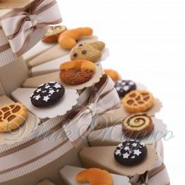 Torta Bomboniere Magnete Mix Biscotti