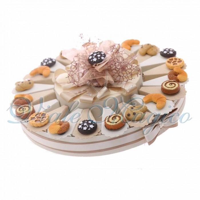 Torta Bomboniere Compleanno Diciottesimo Magnete Mix Biscotti