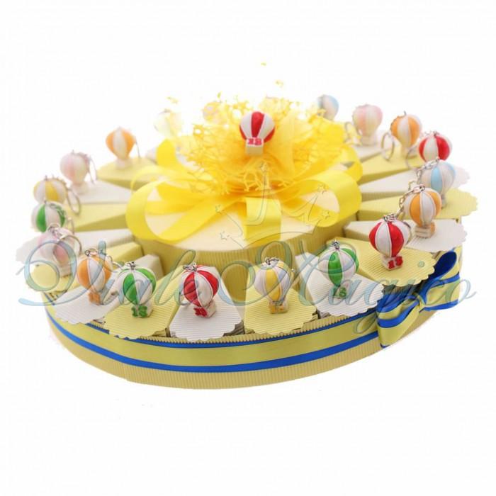 Torta Bomboniere Compleanno Diciottesimo Portachiavi Mongolfiere 18 Anni