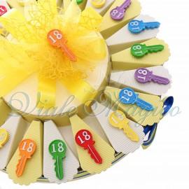Torta Bomboniere Magnete Chiave 18 Anni